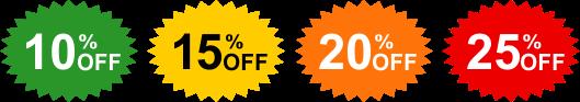 Get amaizing discounts!