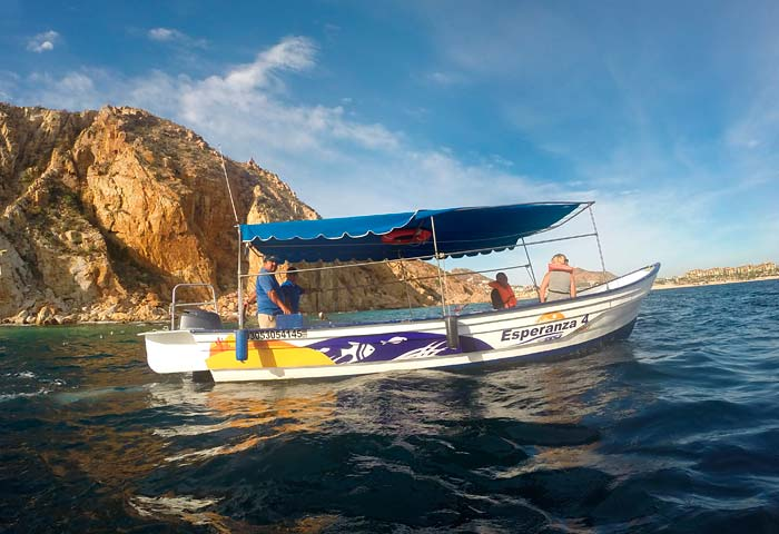 Glass Bottom Boat - Water Taxi to the Arch Tour in Cabo San Lucas