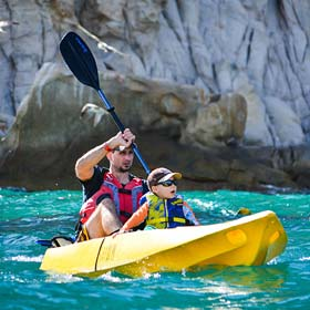 Kayak and snorkel at the Arch in Los Cabos