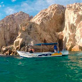 Glass Bottom Boat Water Taxi to the Arch l Tours and Activities in Cabo San Lucas