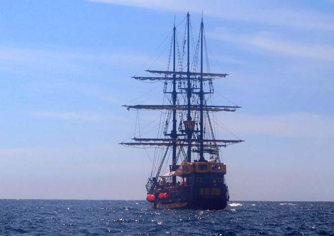 Sunset Cruise in a Pirate Ship in Cabo San Lucas