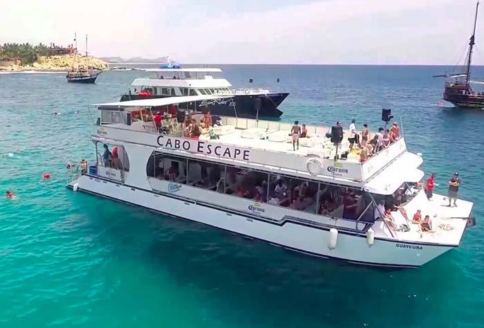 Snorkeling Tours Cabo San Lucas in a Double Deck Catamaran Cruise