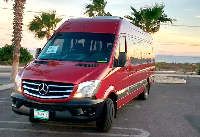 Sprinter airport transfer in Los Cabos