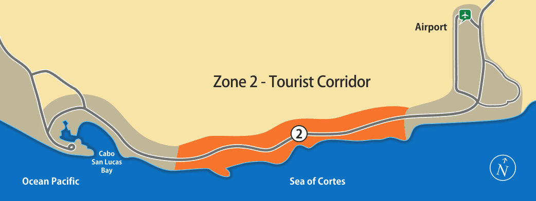 Zone 2 - Transportation to the Tourist Corridor area